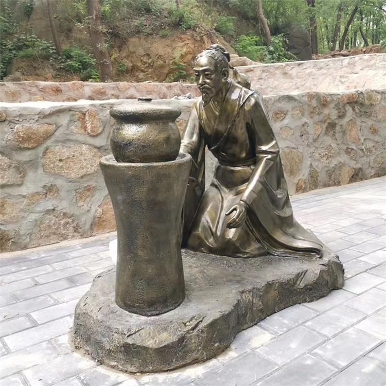 玻璃钢农耕雕塑 户外景观仿铜人物雕塑934024065