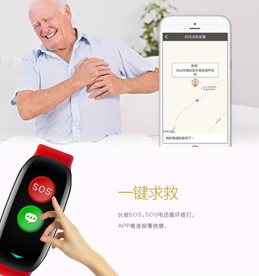 手机电池代理_H02老人健康智能手表手环gps定位心率血压SOS中英文外贸厂家直供 ...