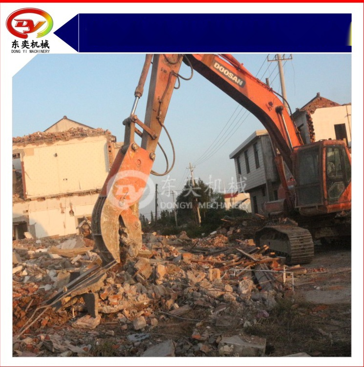 勾机液压钳 挖掘机高层拆除液压破碎钳 混凝土破碎钳769060115