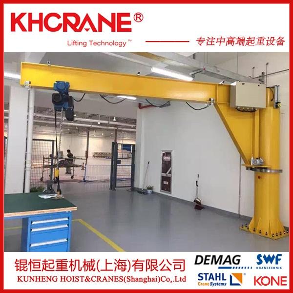 锟恒供应2t立柱式悬臂吊 电动旋转单臂吊墙壁吊116290135