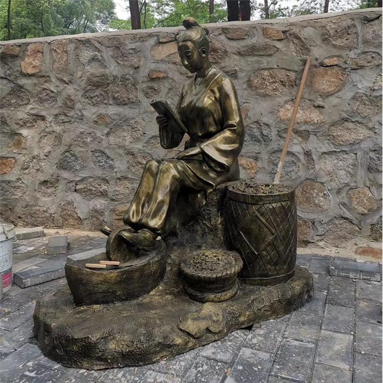 玻璃钢渔夫人物雕塑 公园情景小品打鱼人雕塑146526685