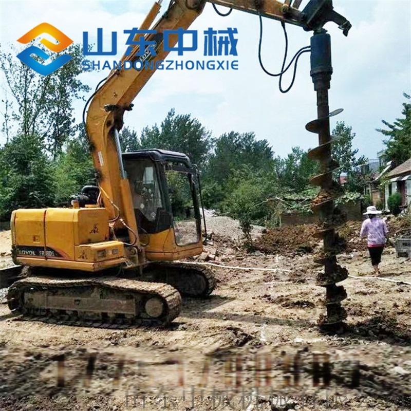 挖掘機改裝液壓螺旋鑽大孔輪挖改螺旋鑽機113408332