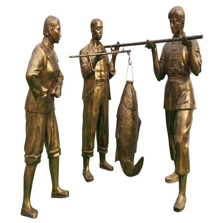 玻璃钢农耕雕塑 户外景观仿铜人物雕塑934024045