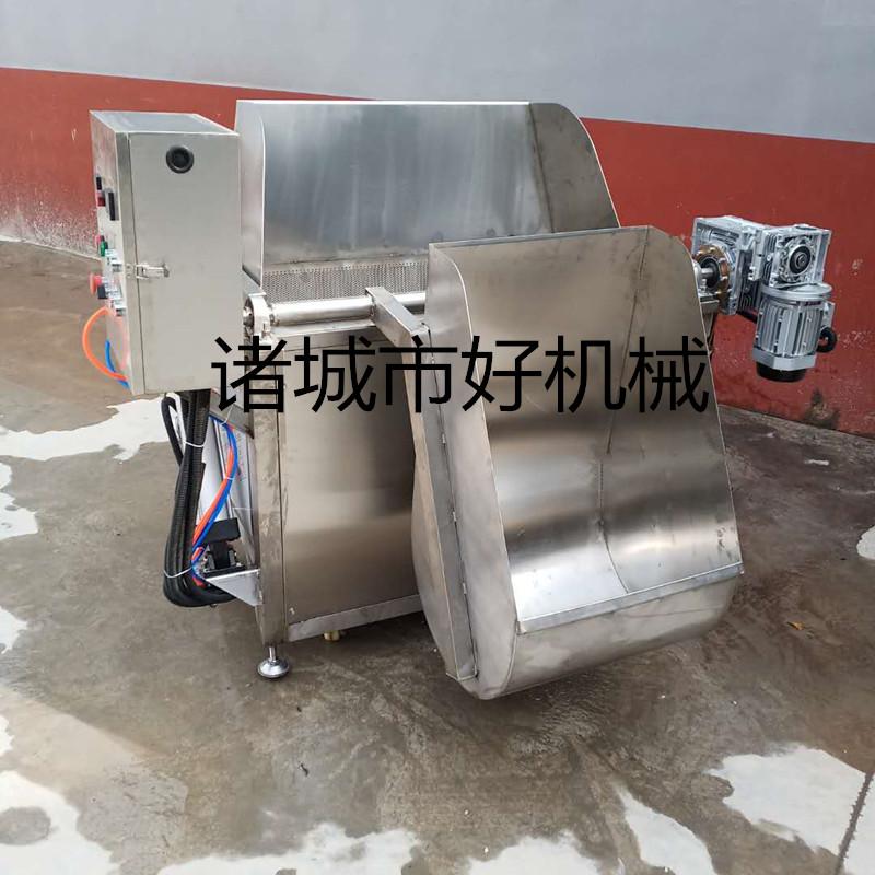 2020豆泡气缸油炸锅 带搅拌进出料油炸设备115341202