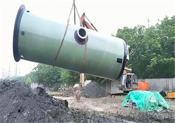 直徑3米高度6米玻璃鋼一體化污水提升泵站851535675