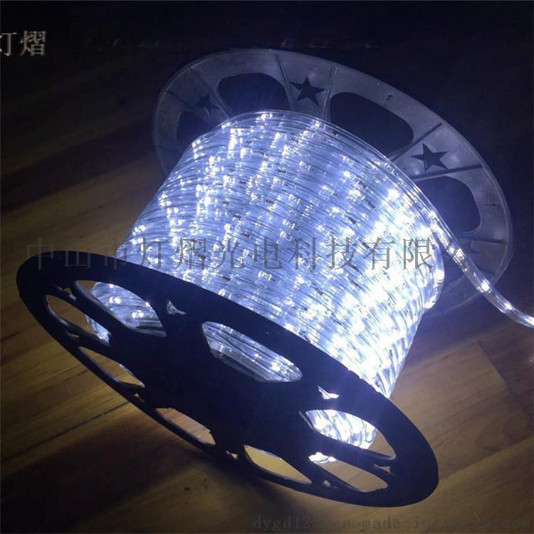 廠家直銷LED燈帶 戶外防水圓二線 彩虹管770066825
