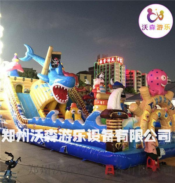 沧州充气城堡厂家,带螺旋滑梯的叫巨鲨来袭充气蹦蹦床809268552