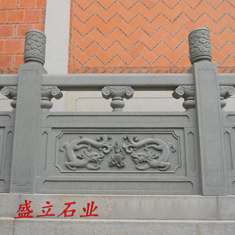 青石栏板 石雕栏杆 河堤石材护栏 来图定做49095502