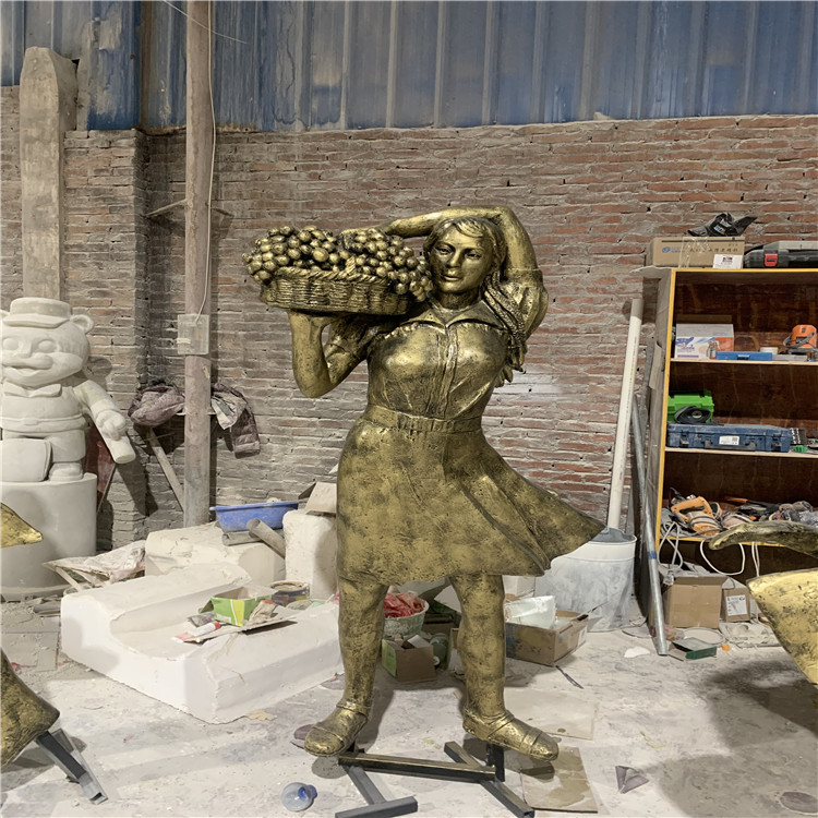 玻璃钢民俗人物雕塑 公园文化广场起舞人物雕塑934533535