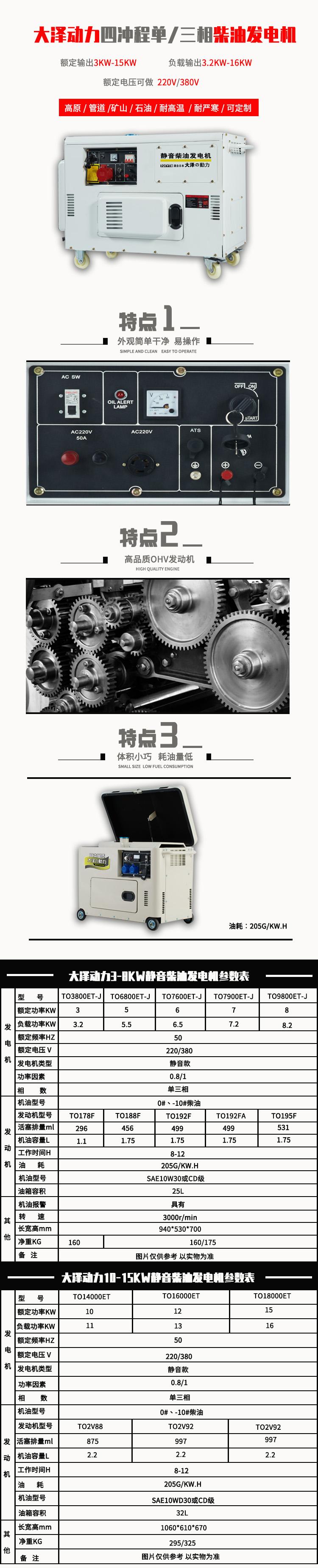 大泽动力3千瓦静音柴油发电机131945492