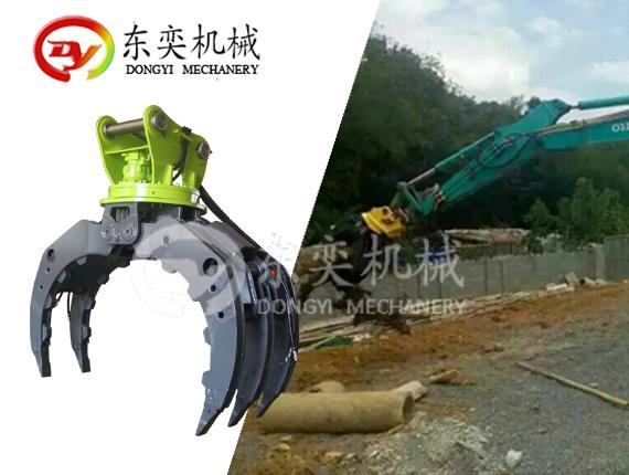 挖掘机抓木器 360度抓木机 旋转抓木 东奕机械厂765915515