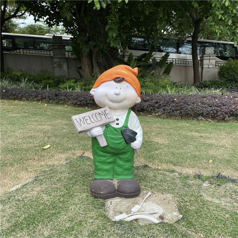 動畫片人物雕塑,佛山商場形象卡通玻璃鋼雕塑116564382