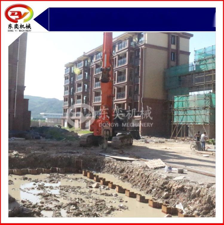 日立挖掘机改装打桩机 打拔桩机 打拔钢板桩机59800225
