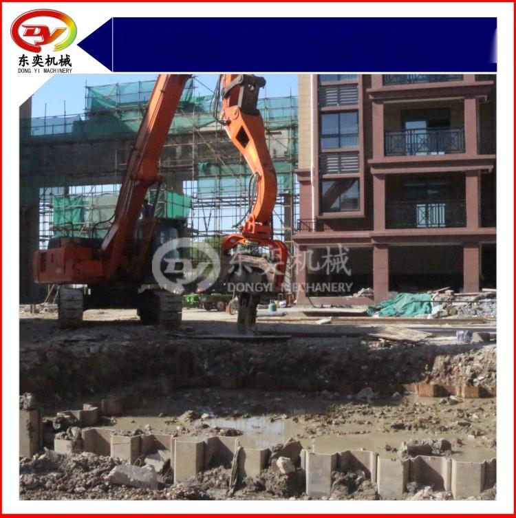 日立挖掘机改装打桩机 打拔桩机 打拔钢板桩机59800205