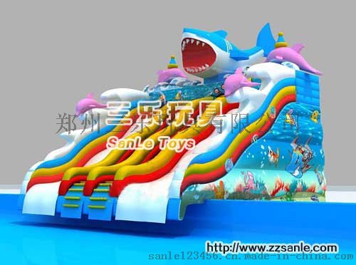 大飛鯊水上滑梯SL3d