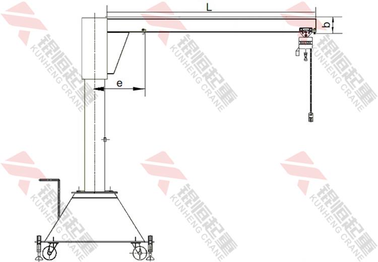 工字钢型移动悬臂吊1
