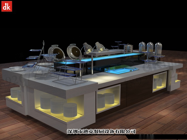 迪克餐廚設計 移動布菲臺專業定製 配套自助餐檯設備92879645