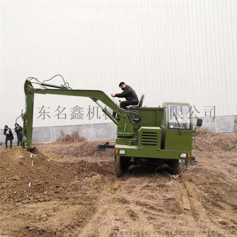 轮式多功能吊挖一体机 园林绿化挖吊一体机831439002