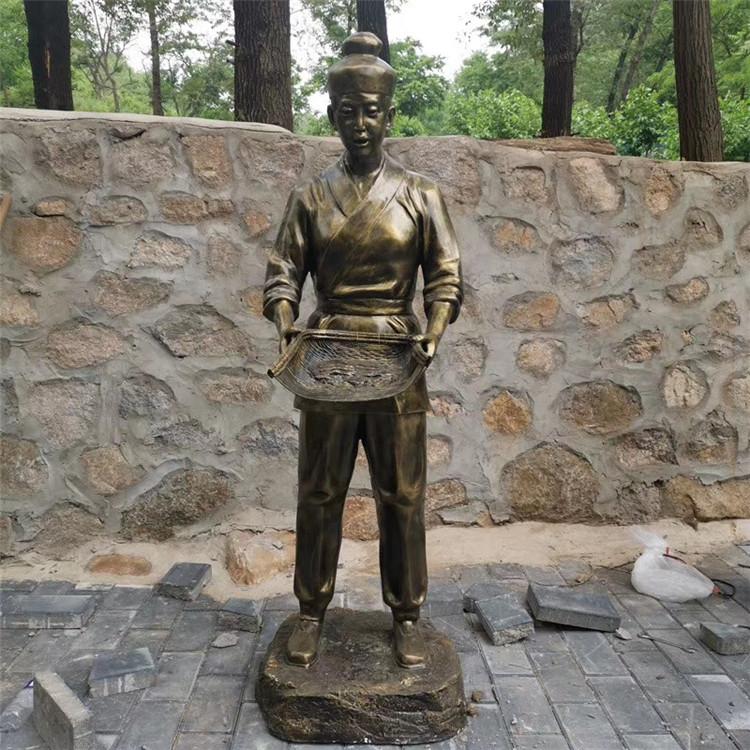 玻璃钢渔夫人物雕塑 公园情景小品打鱼人雕塑146526665