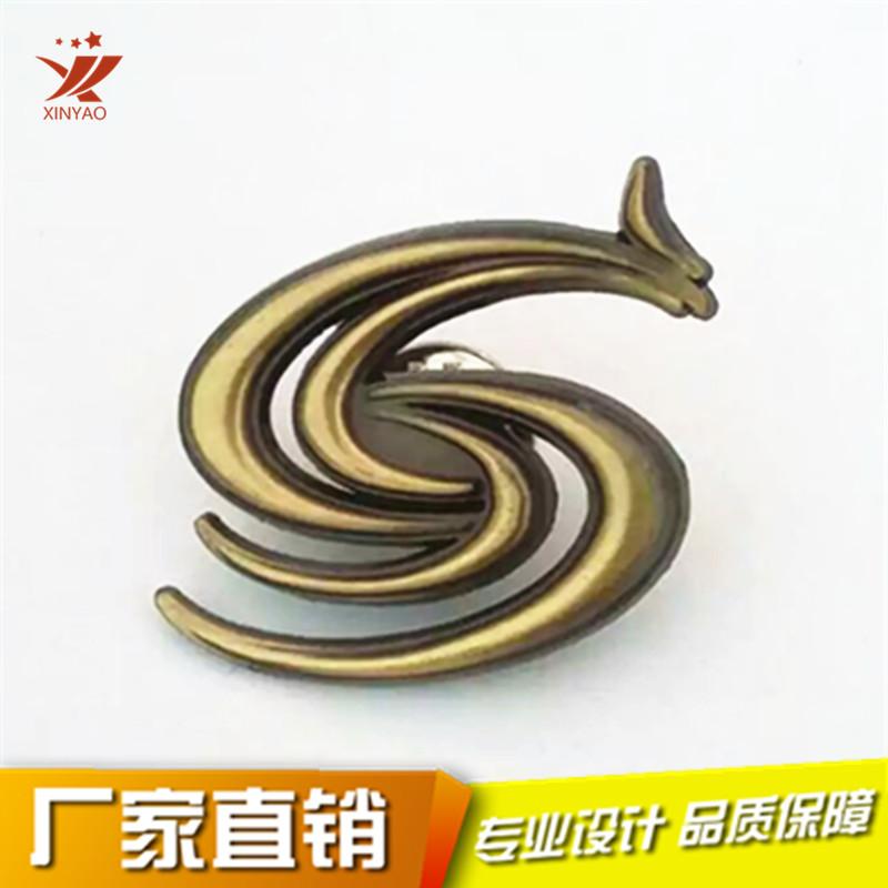 复古青铜色浮雕徽章 企业公司纪念章 镂空胸针786964155