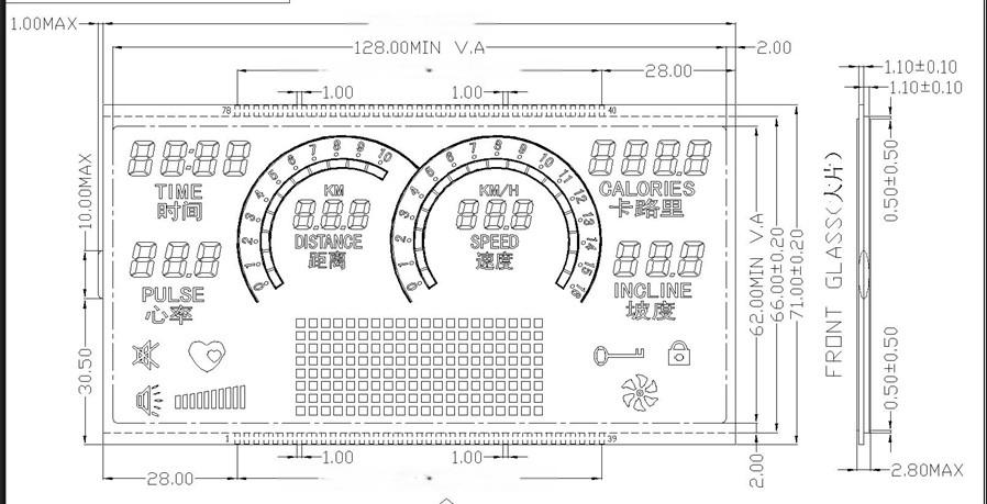 高端跑步机仪表LCD液晶屏.jpg