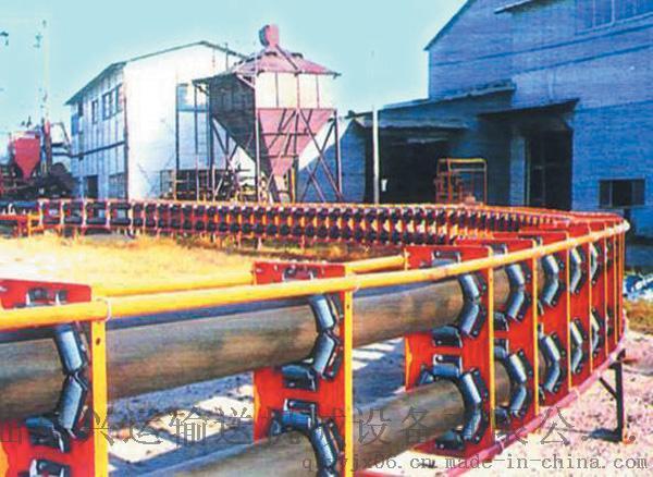 沙石用管状输送机   圆管状皮带运输机732537542