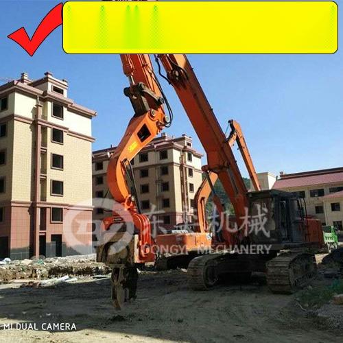 挖掘机打钢板桩机 打拔拉森钢板桩 打桩锤厂765791305