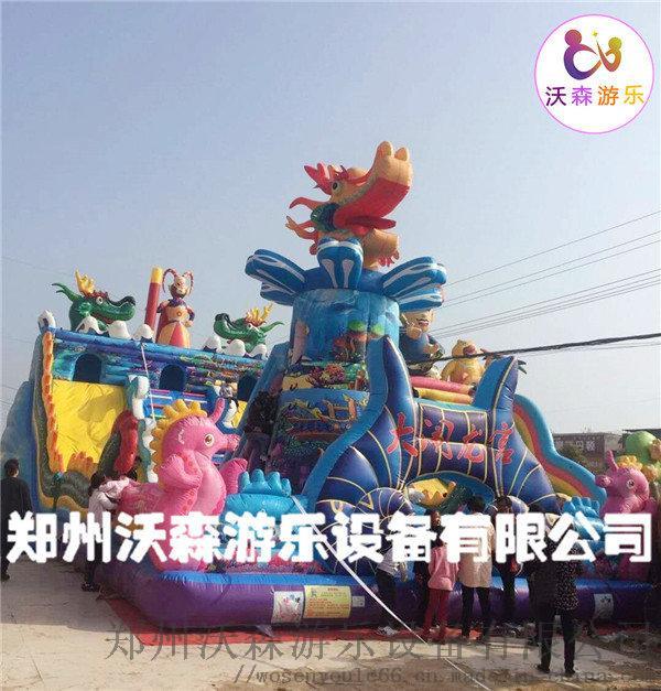 充气城堡图片,河北承德孙悟空充气滑梯120平多少钱95785832
