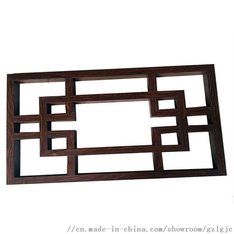 中式鋁窗花廠家直銷木紋鋁窗花金屬材料定製生產806314825