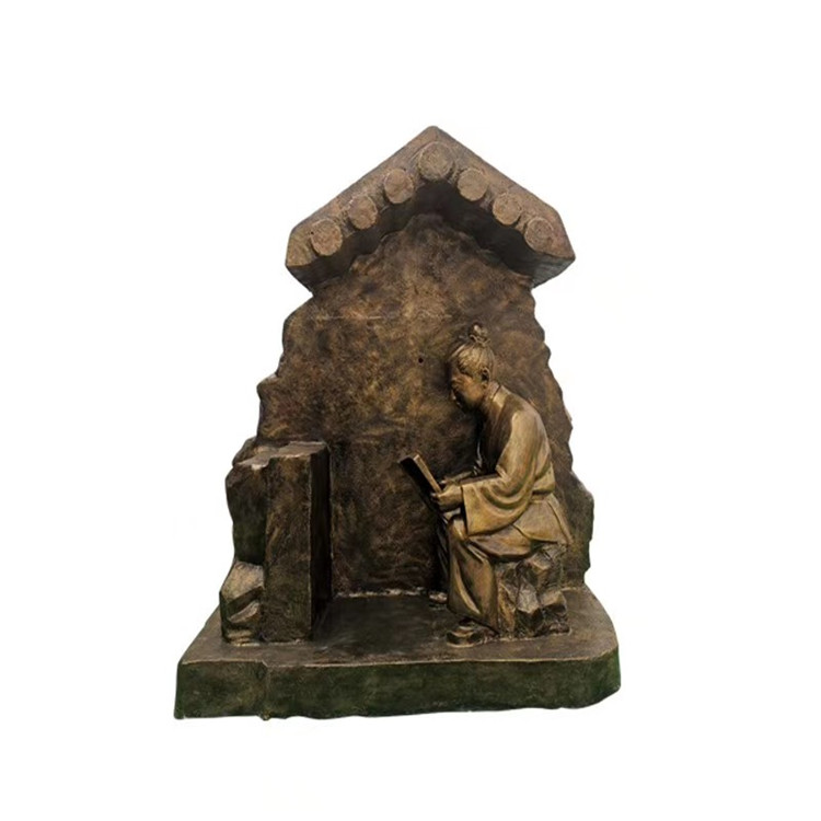 玻璃钢农耕雕塑 户外景观仿铜人物雕塑146526475
