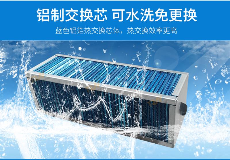 瑞能网咖火锅店商用新风系统 新风换气机 全热交换器106322232
