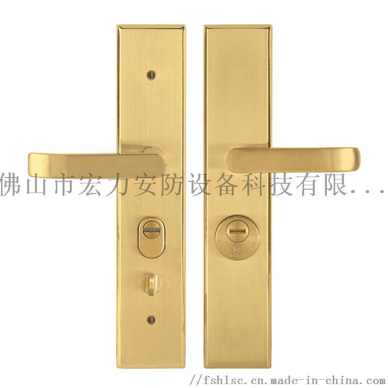 宏力锁厂直销不锈钢材质防盗门执手锁,室内门锁820453395
