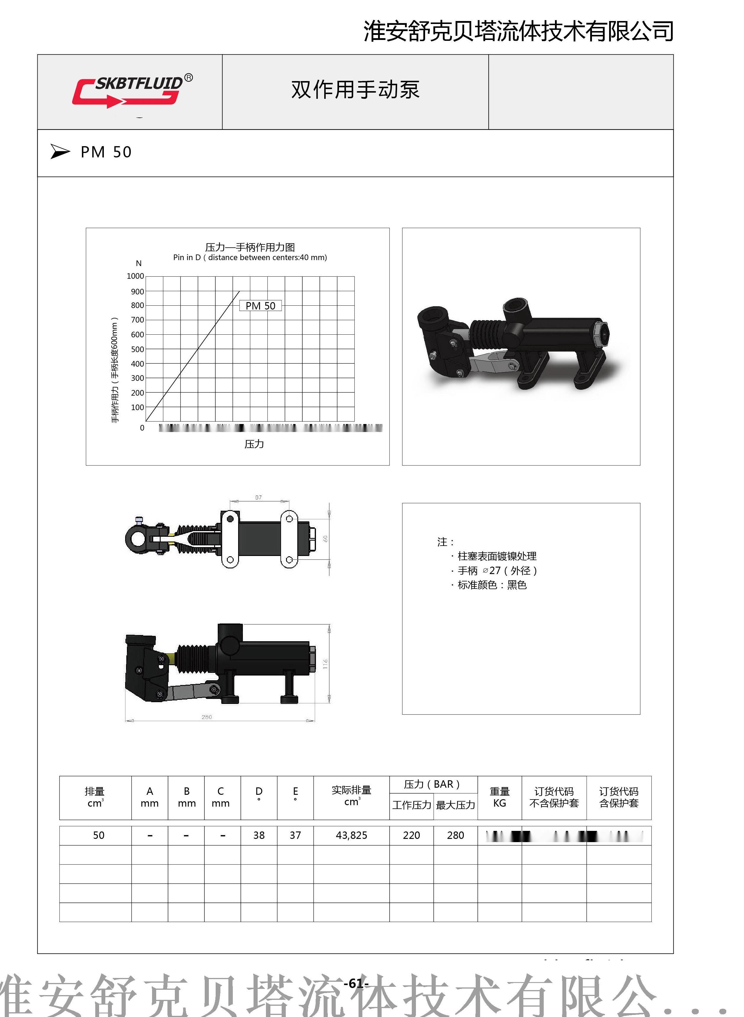 PM25单作用手动泵95338745