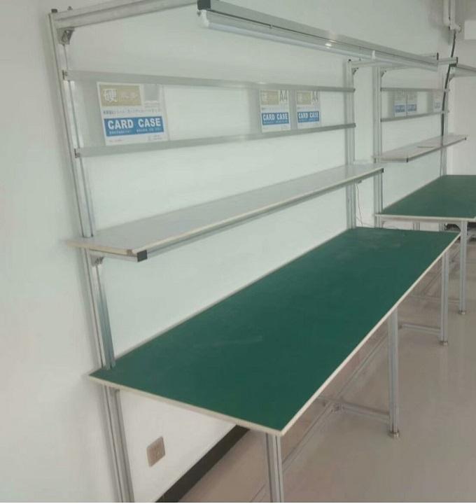 河南帶燈單雙面防靜電工作臺 工廠打包生產拉線操作桌839384102