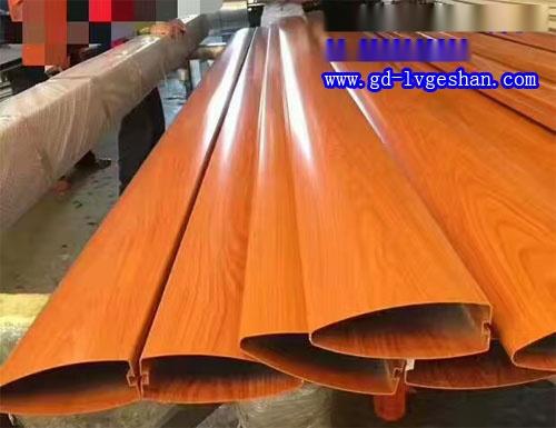弧形铝方通 木纹铝型材吊顶 铝方通规格