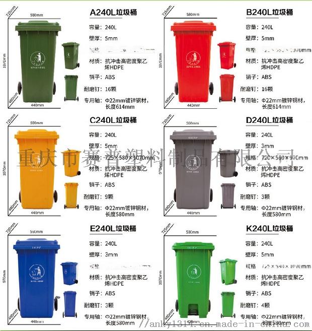四川成都哪里有生产塑料垃圾桶的厂家 塑料环卫垃圾桶84638015