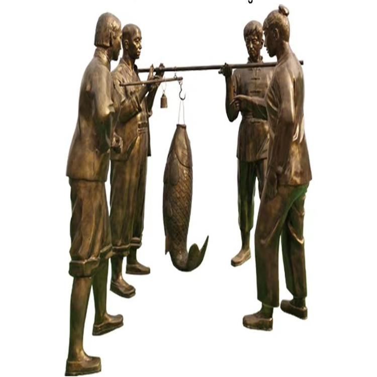 玻璃钢农耕雕塑 户外景观仿铜人物雕塑146526485