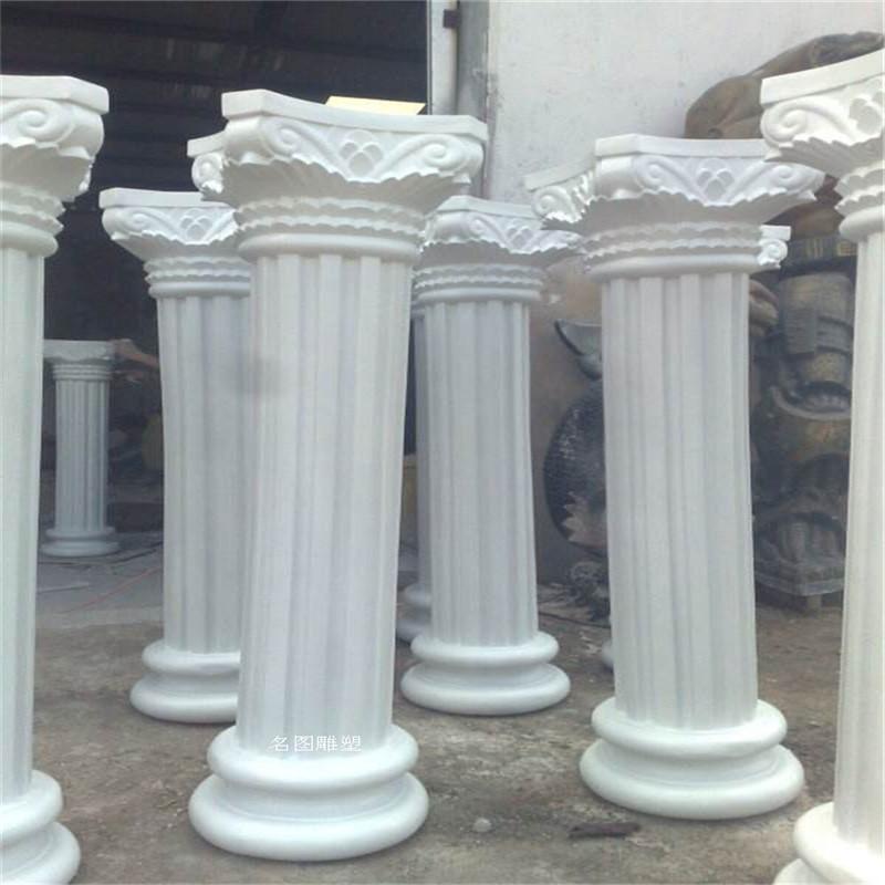 酒店前臺玻璃鋼羅馬柱造型裝飾湖南玻璃鋼造型雕塑893108835