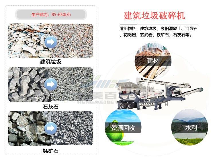 山東流動式車載破碎站 建築垃圾破碎機 建築廢棄物處理設備95245832