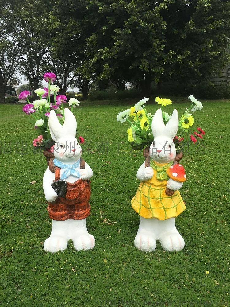 玻璃钢树脂工艺品 户外玻璃钢仿真兔子动物卡通摆件85567155