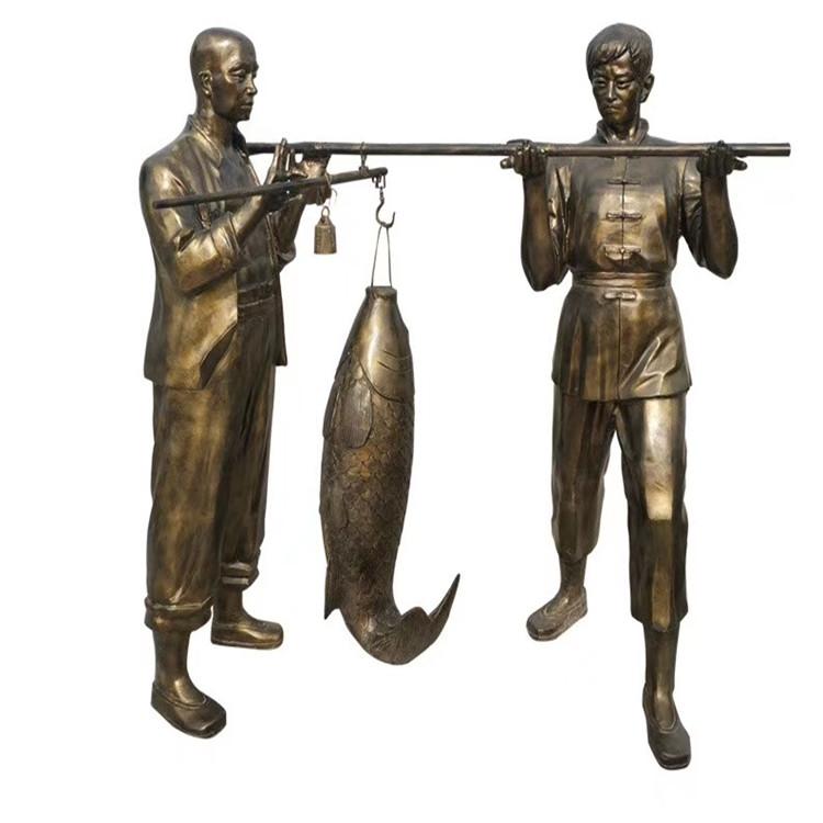 玻璃钢农耕雕塑 户外景观仿铜人物雕塑146526455