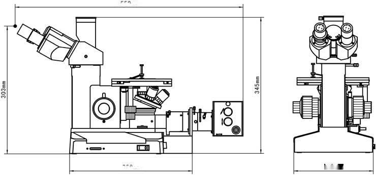 CR15-T310型三目工业带测量金相显微镜131115115