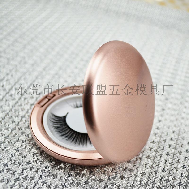 噴漆金色帶鏡圓形假睫毛盒68462862
