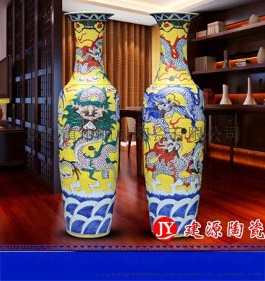 手繪藝術大花瓶 1.6米花瓶 陶瓷開業裝飾擺件801252625