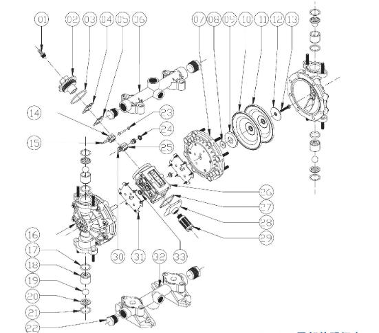 QBY3-100气动隔膜泵,不锈钢材质隔膜泵57314605
