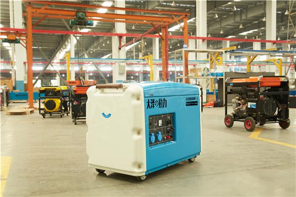 大泽动力无刷7kw小型静音柴油发电机组100169622