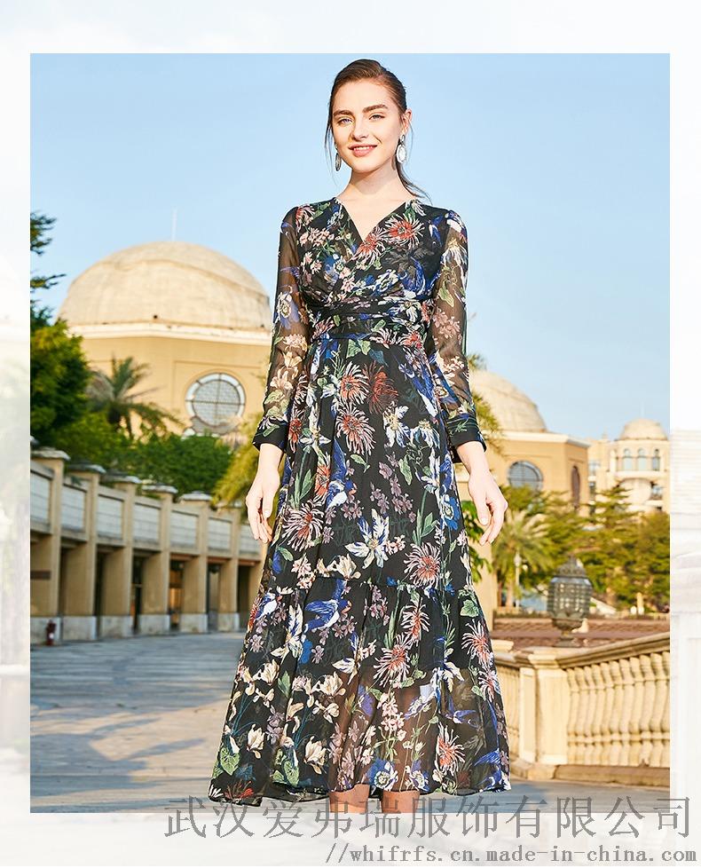 诗蒂雅文2020早春套头五分袖拼接裙子服装进货中端894763835