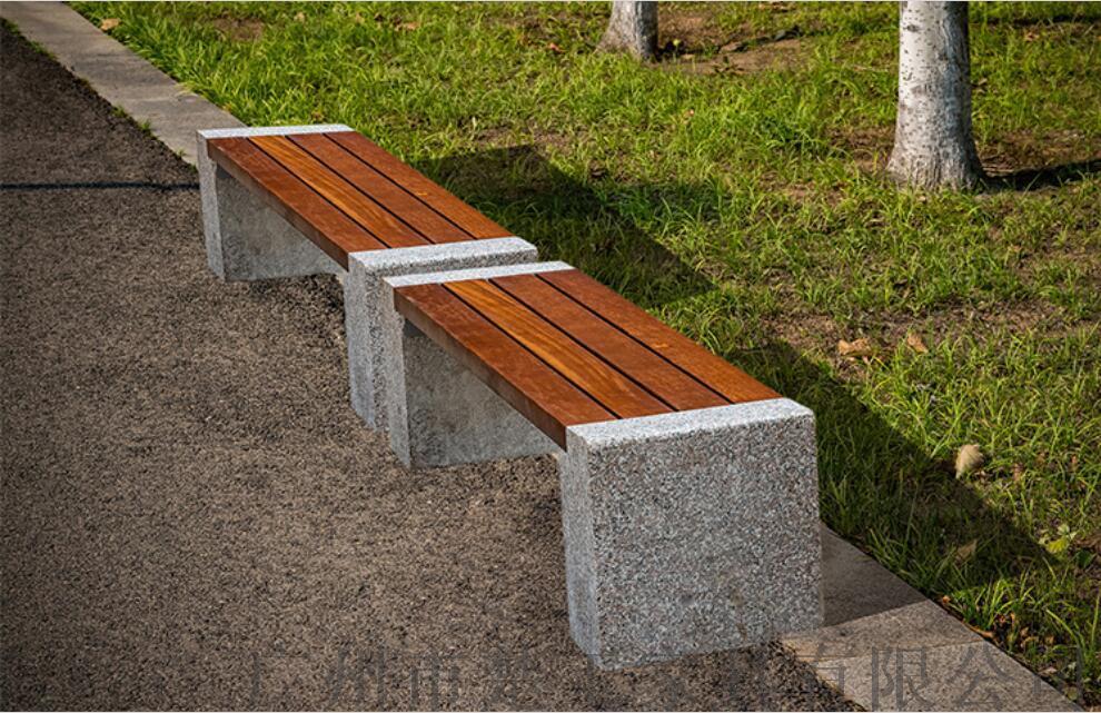 钢木园林景观座椅,室外木制创意休闲坐凳122969265