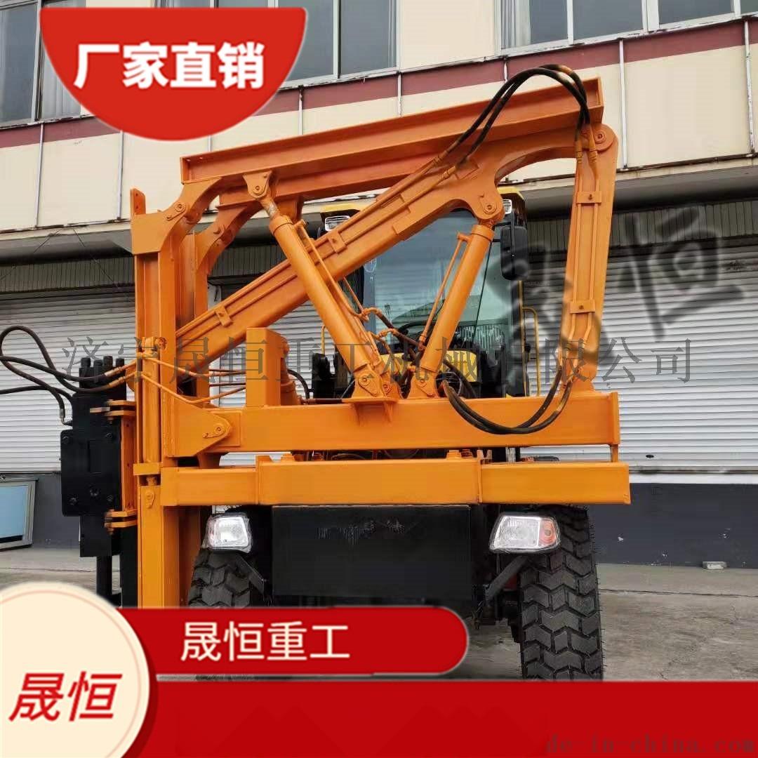 高速公路防护栏打桩机 钻孔一体液压 地基建筑工程用898222785