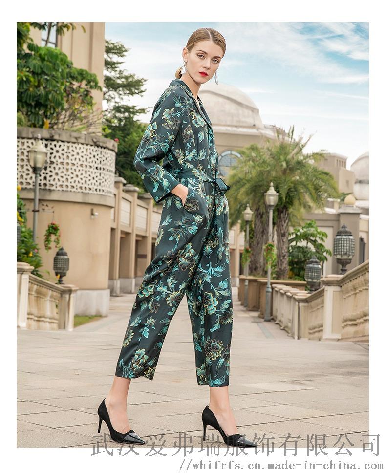 诗蒂雅文2020早春套头五分袖拼接裙子服装进货中端894763795